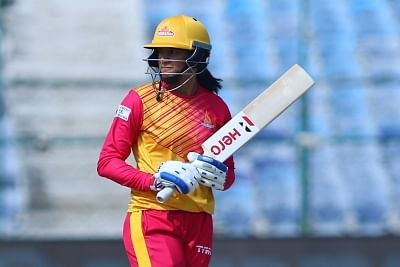 Jaipur: Trailblazers skipper Smriti Mandhana during the 2nd match of Women
