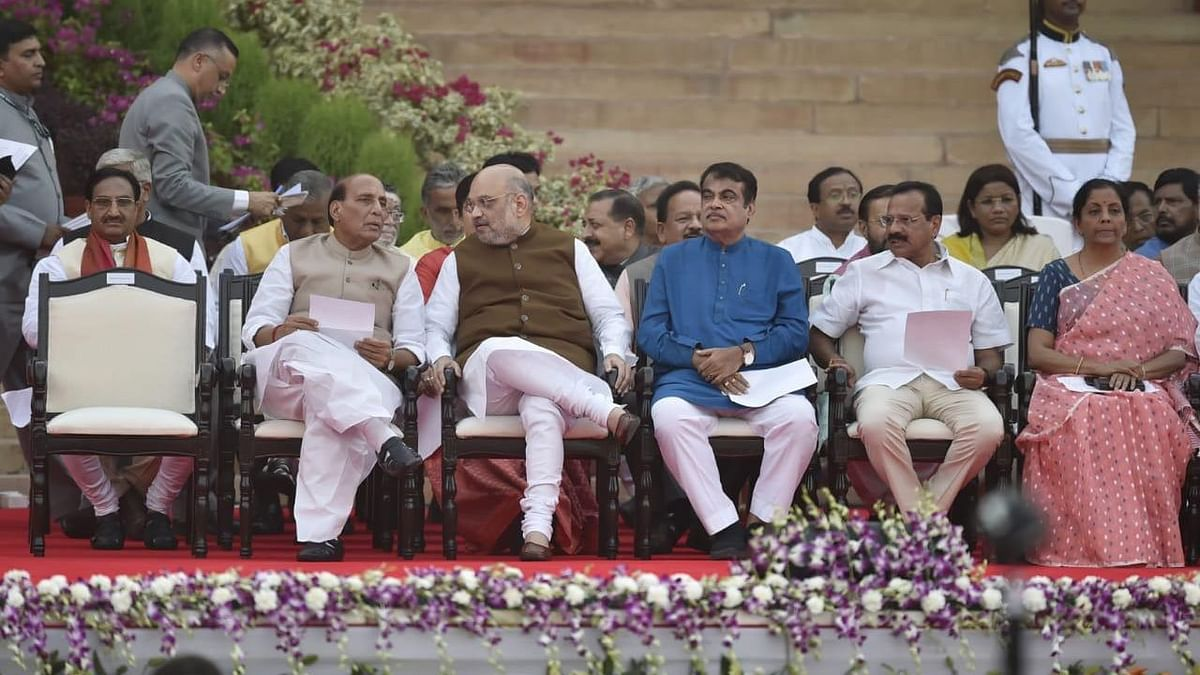 Rajnath Singh, Amit Shah and Nitin Gadkari are among the top leaders to take oath to become the part of Modi's Cabinet.