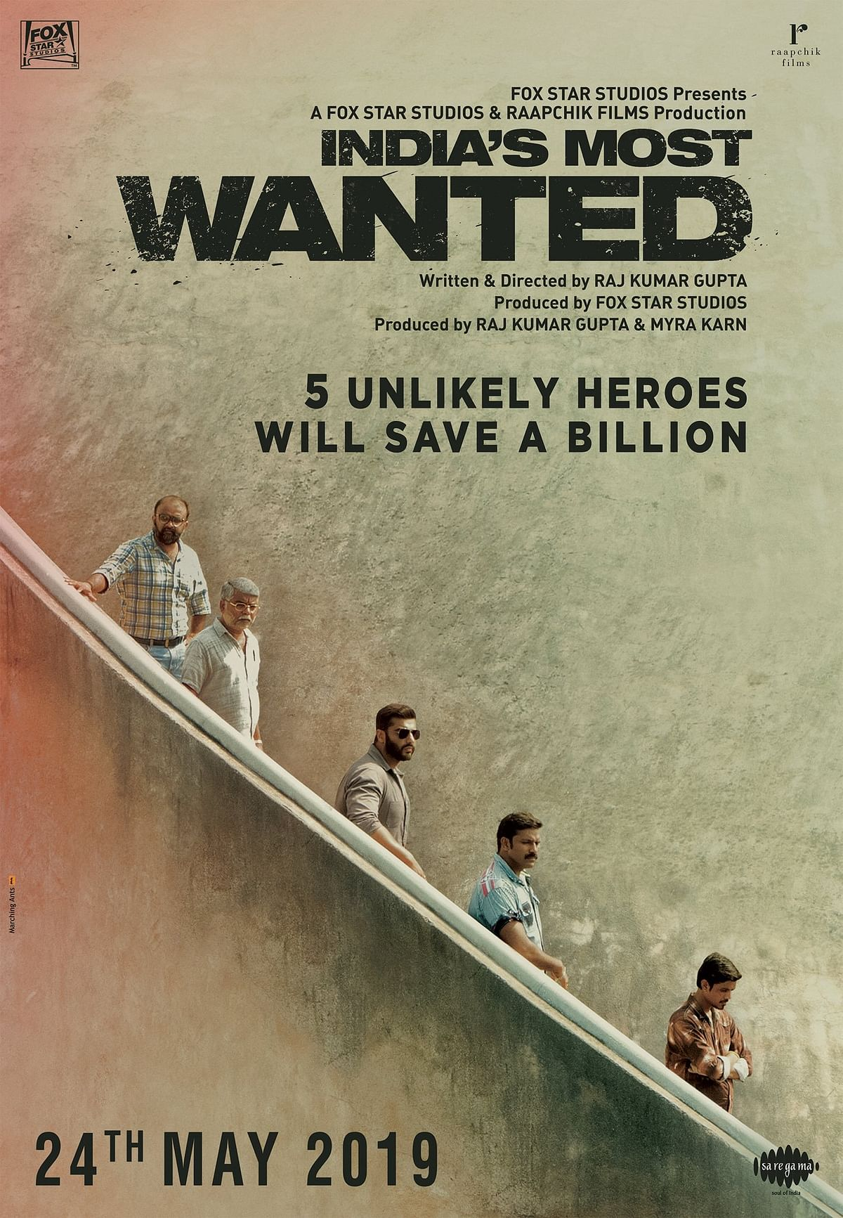 A poster of <i>India's Most Wanted.</i>