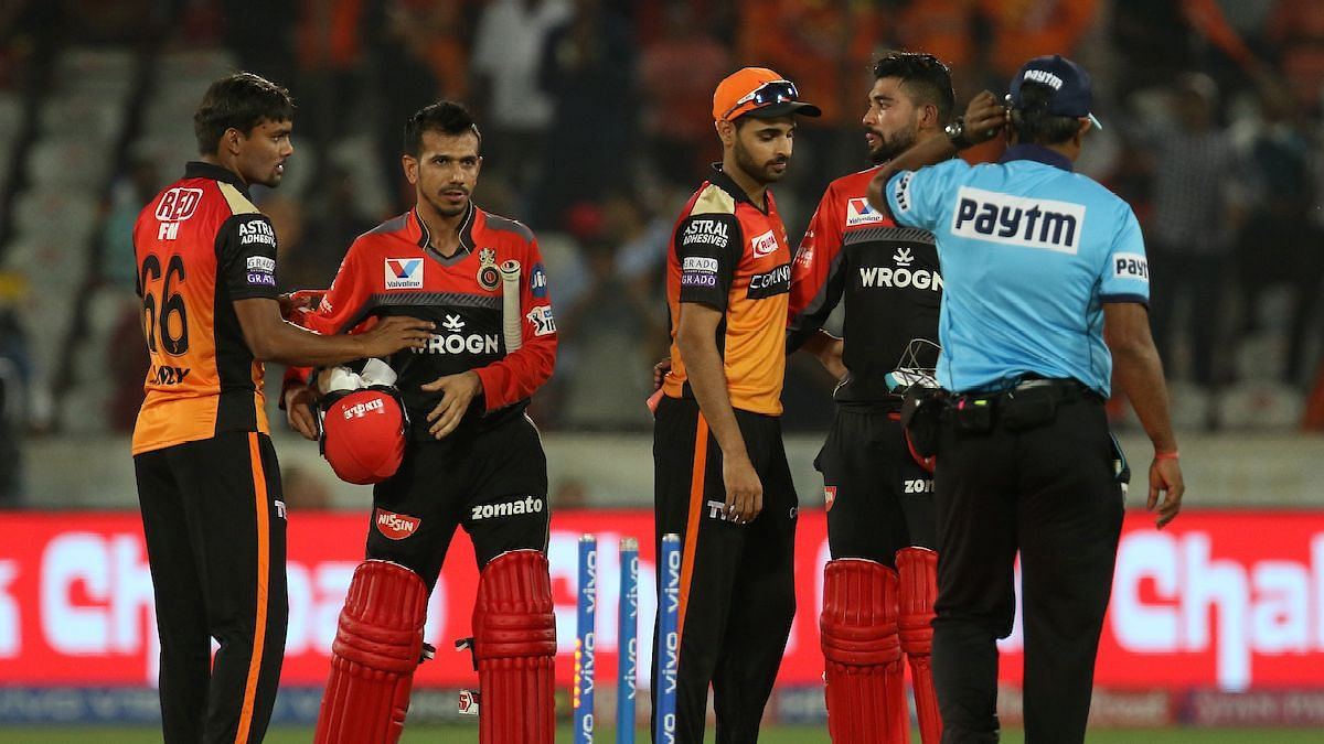 In their last outing against in IPL 2020, RCB defeated SRH by 10 runs.