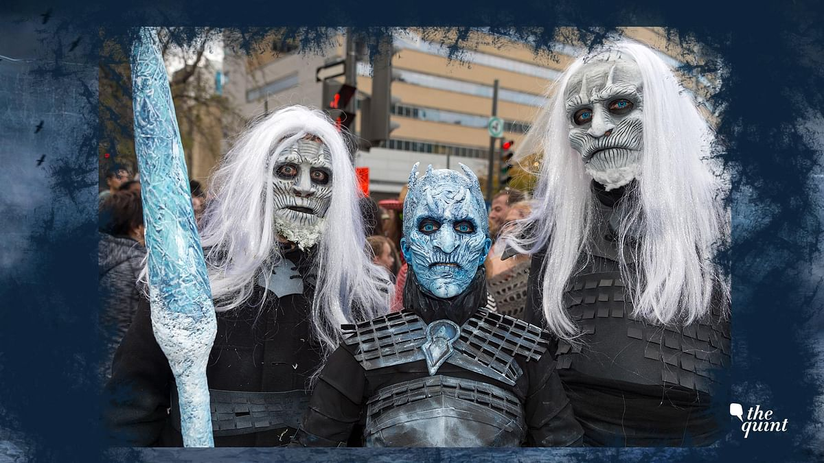 October 28, 2017: Game of Thrones White Walkers and Night King taking part in the Zombie Walk in Montreal Downtown, Canada. Representational image.