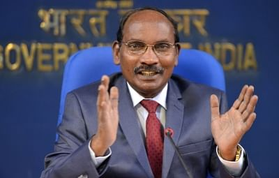 ISRO Chairman K Sivan addresses a press conference on issues related to Department of Space in New Delhi.