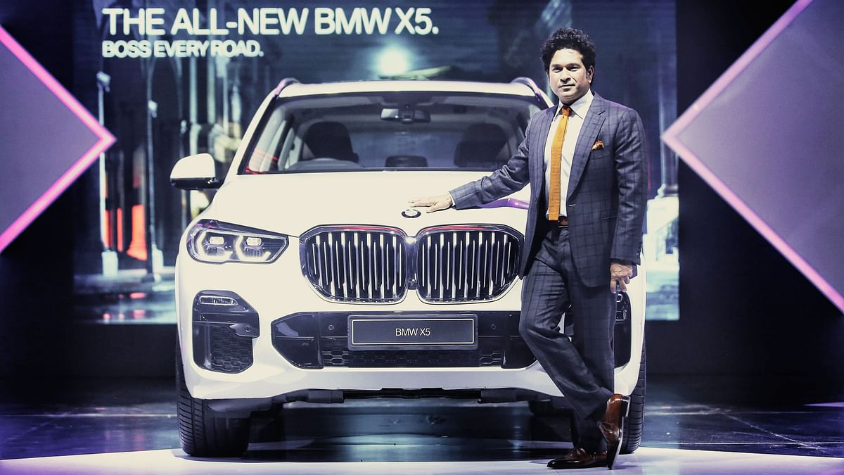 The 2019 BMW X5 with brand ambassador Sachin Tendulkar.