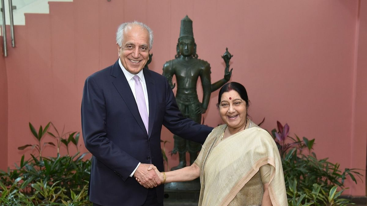 US Envoy to Afghanistan Briefs Sushma Swaraj on Pullout Plan
