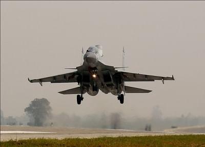 Sukhoi Su-30 fighter aircraft.