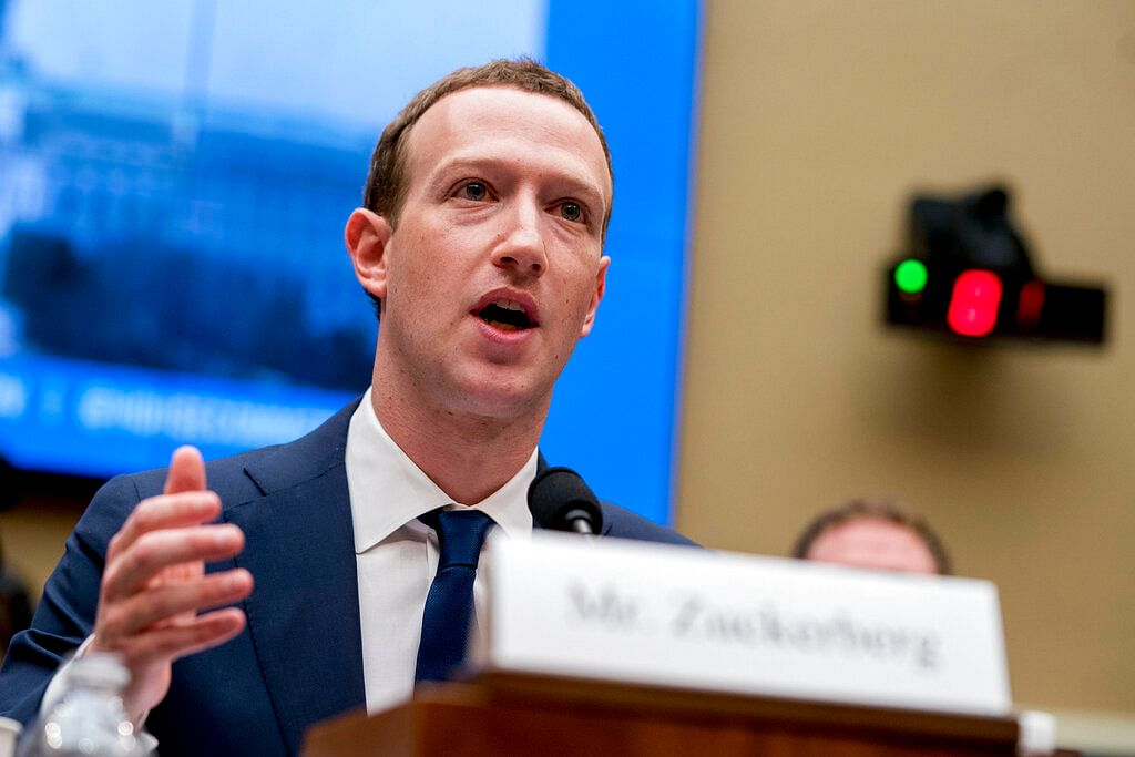 In this 11 April 2018  photo, Facebook CEO Mark Zuckerberg testifies before a House Energy and Commerce hearing on Capitol Hill in Washington.