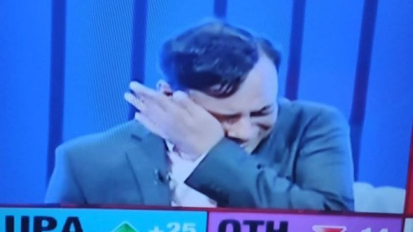 Axis My India Chief broke down on TV  after the leads proved to be in tandem with what the exit polls predicted.