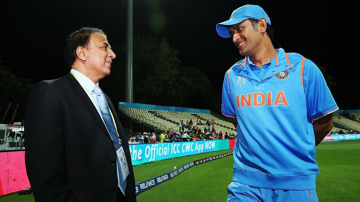 Sunil Gavaskar writes about MS Dhoni and says he lives a simple life.