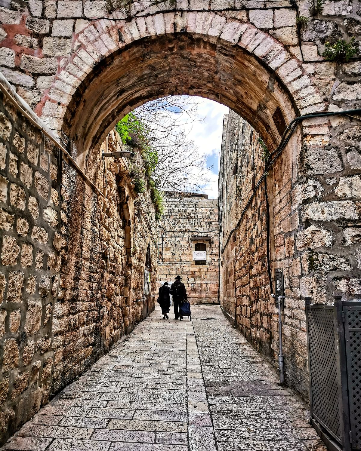One of the many atmospheric alleys in Jerusalem's Old City.