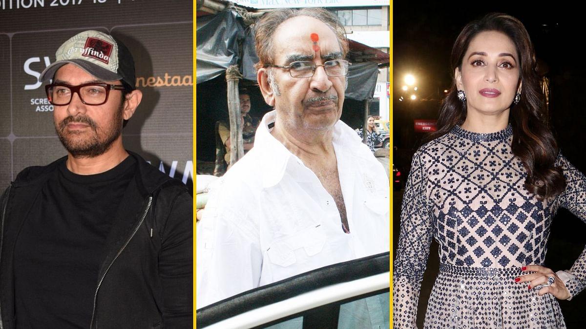 Aamir, Madhuri & B'town Mourn the Demise of Veeru Devgan