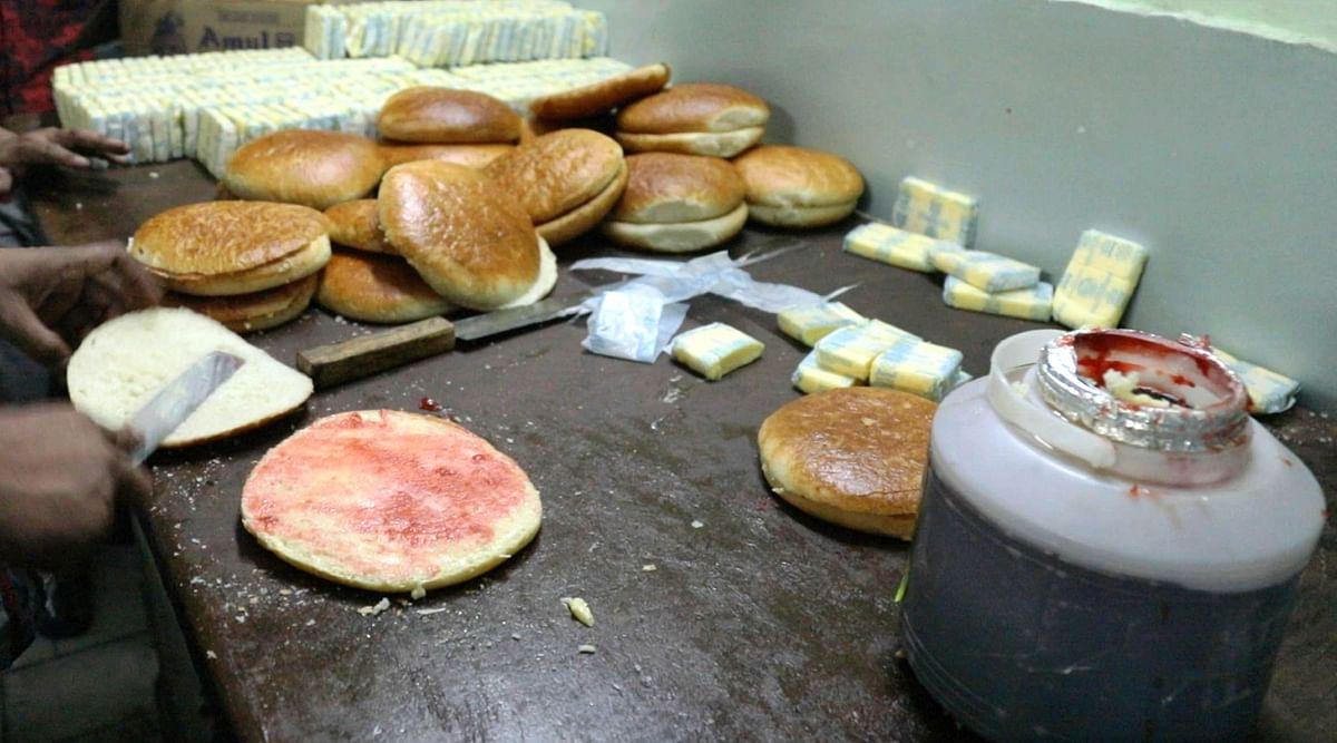 The jam used in sheermaal is prepared at the bakery.