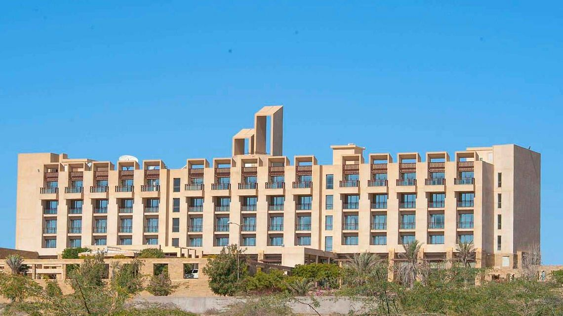 Gwadar's only high end hotel, the Pearl Continental Hotel is under attack.
