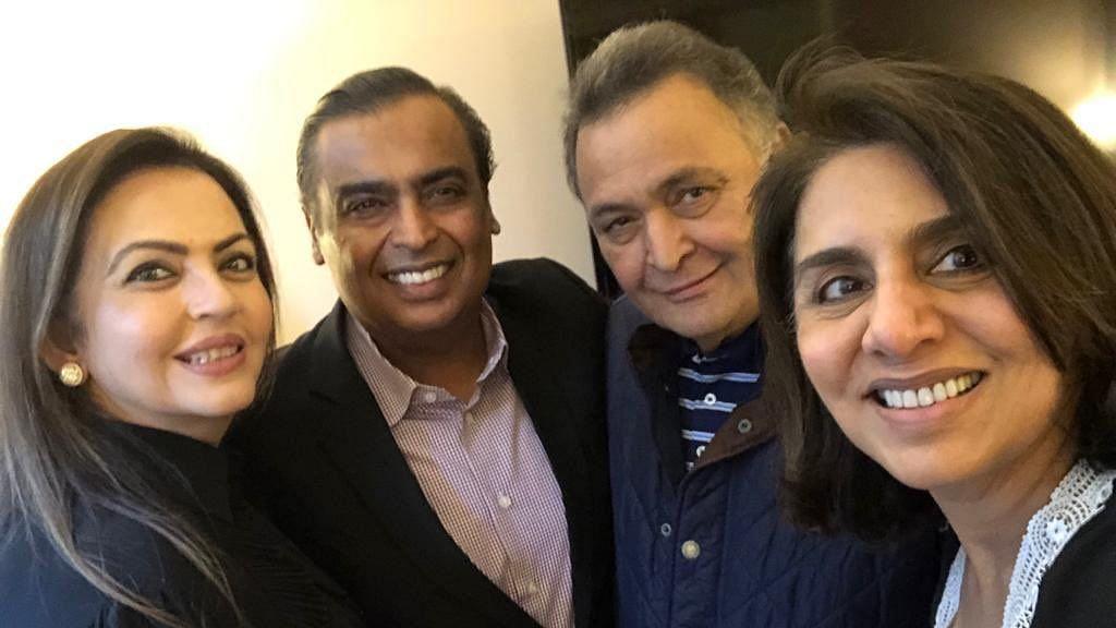 Nita and Mukesh Ambani with Rishi and Neetu Kapoor.