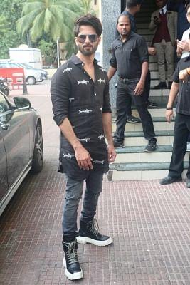 "Mumbai: Actor Shahid Kapoor at the screening of his upcoming film ""Kabir Singh"", in Mumbai, on June 23, 2019. (Photo: IANS)"