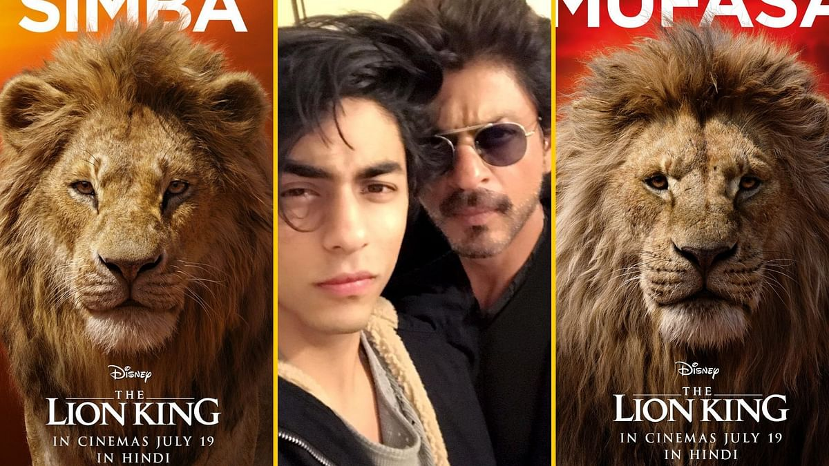 Shah Rukh Khan and Aryan Khan will voice Mufasa and Simba in the Hindi version of the live-action remake of <i>The Lion King</i>.