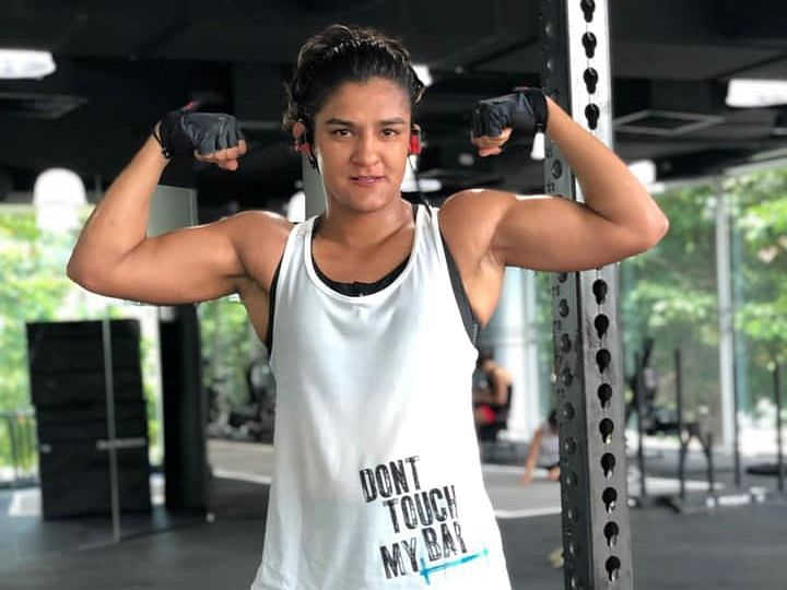 Wrestler turned MMA fighter Ritu Phogat.