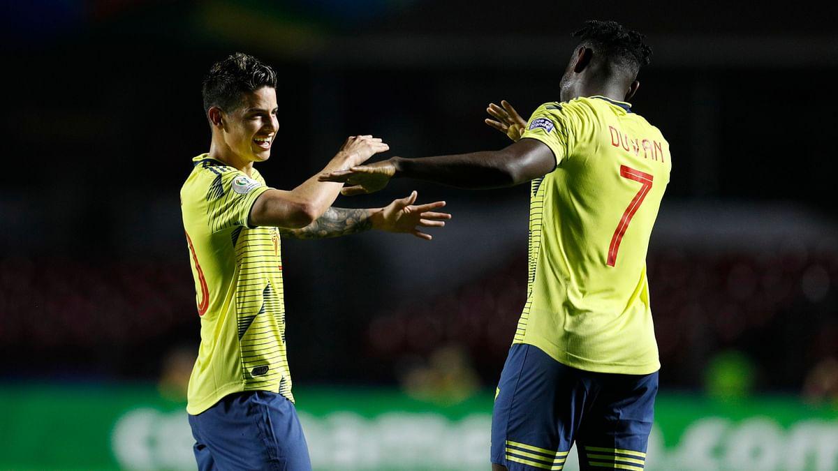 Colombia Scores Late to Edge Qatar 1-0 in Copa America