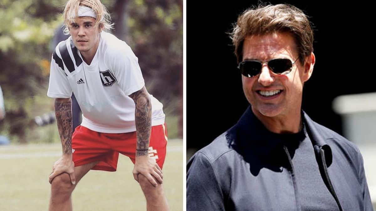 Justin Bieber and Tom Cruise.