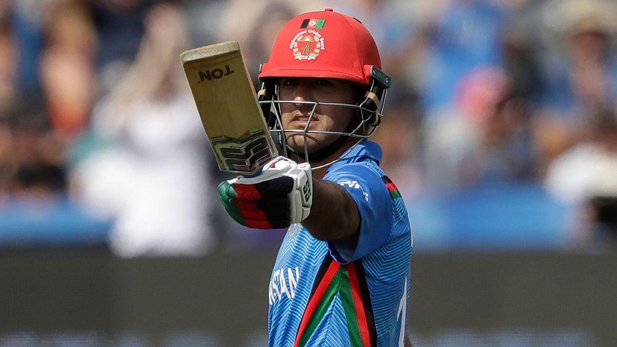 Najibullah Zadran brought up his fifty off 46 balls.
