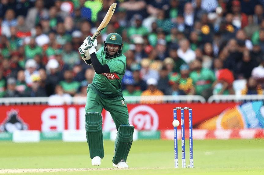 Shakib Al Hasan scored a half-century against Afghanistan in their ICC World Cup match.