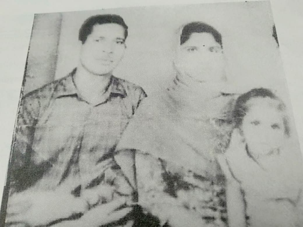 A picture of Sepoy Jagdish Lal, his wife Rani Devi and daughter