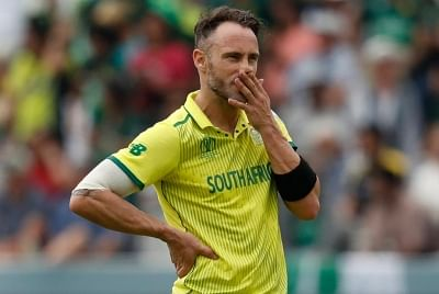 London: South African skipper Faf du Plessis during the 30th match of 2019 World Cup between South Africa and Pakistan at Lord