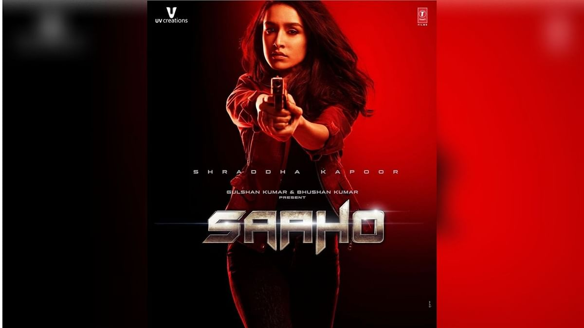 Shraddha Kapoor in a poster for Saaho.