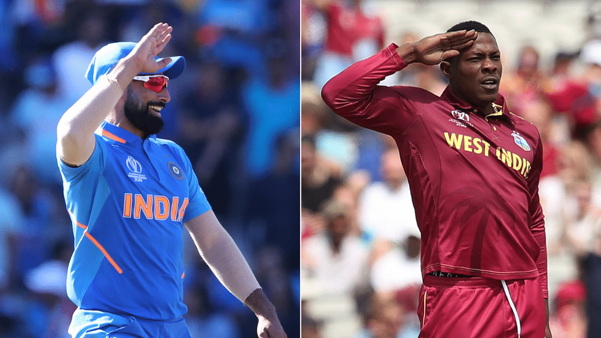 Cottrell Responds to Shami Copying His Salute With Tweet in Hindi