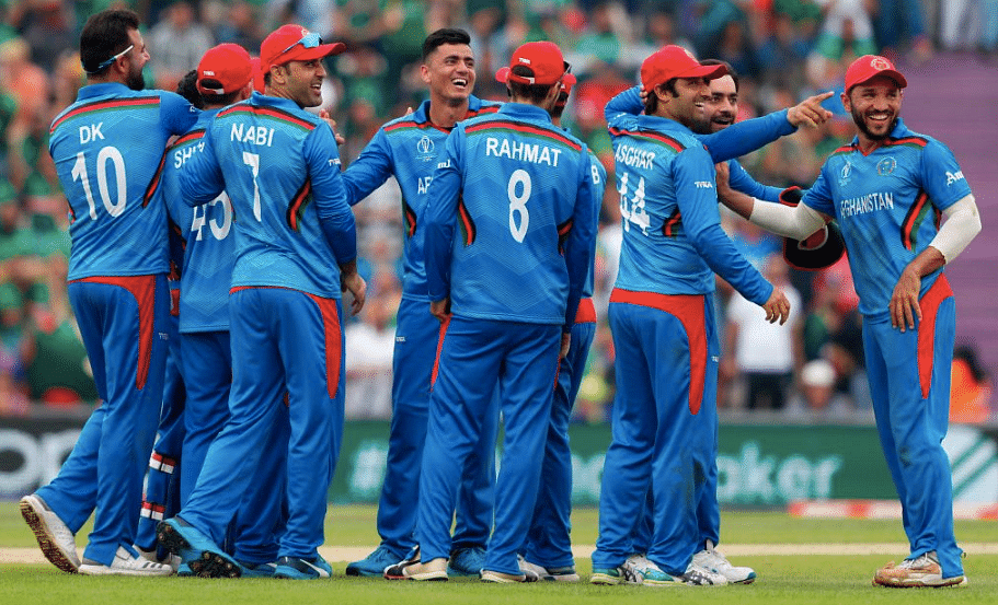 Mujeeb ur Rahman returned with figures of three for 39 in 10 overs for Afghanistan.