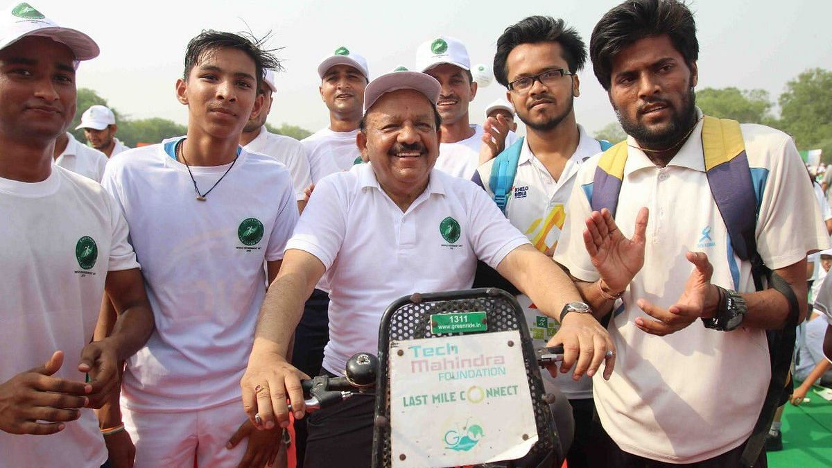 On Day 1 as Health Minister, Harsh Vardhan Cycles His Way To Work