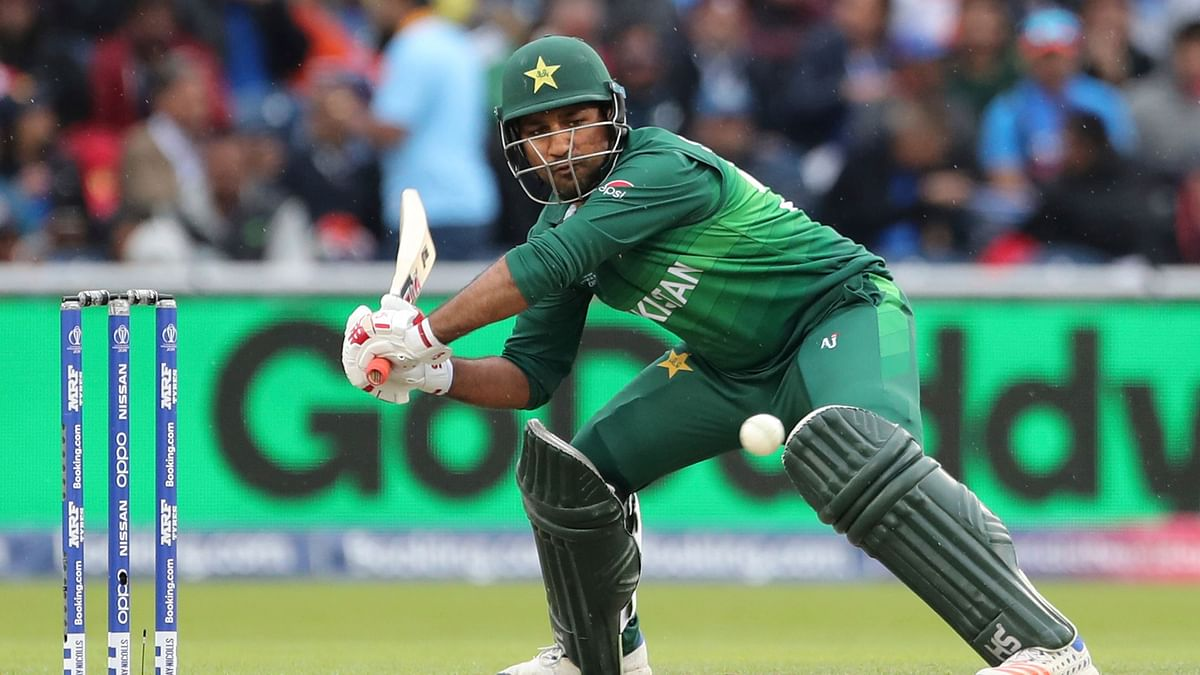 Sarfaraz scored 12 from 30 balls for Pakistan.