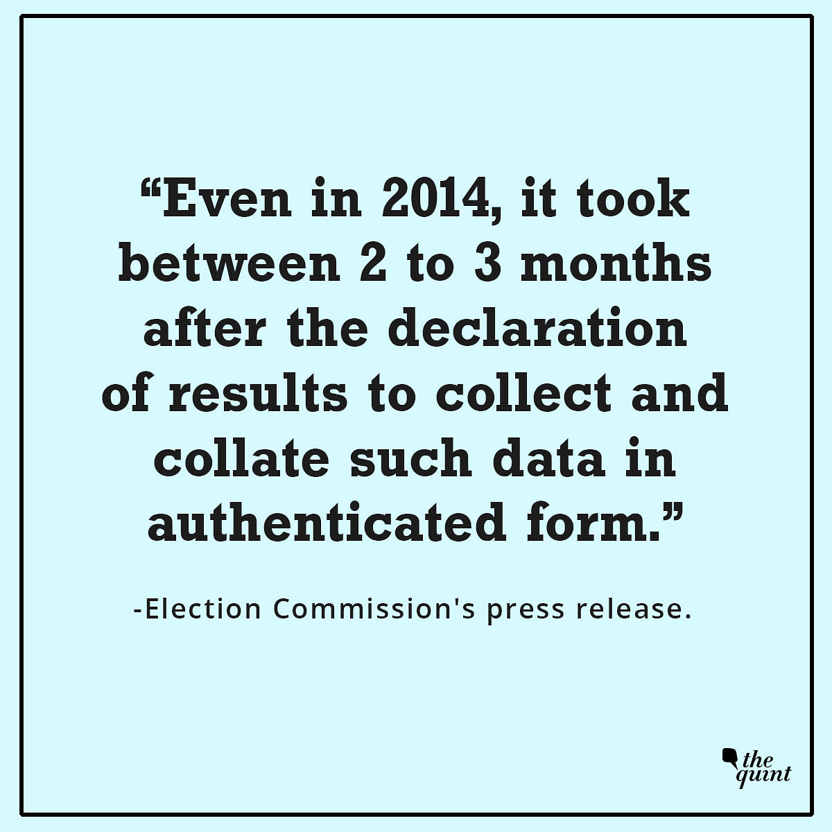 Excerpts from the Election Commission's press release