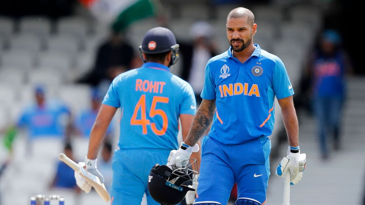 Sharma and Dhawan's 16th century stand in ODIs tied for second in history with Adam Gilchrist and Matthew Hayden.