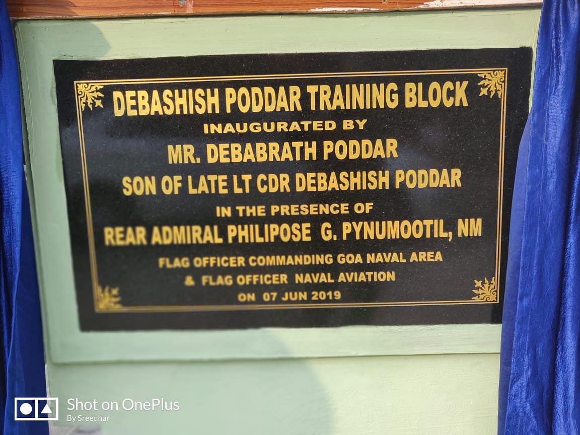 In memory of Late Lt Cdr Debashish Poddar