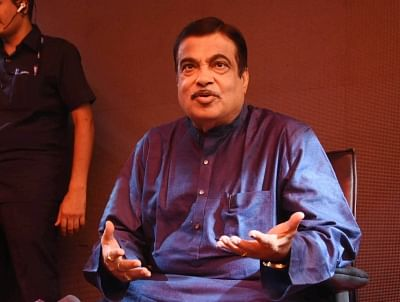 Nagpur: Union Minister Nitin Gadkari addresses a press conference, in Nagpur, on May 23, 2019. (Photo: IANS)