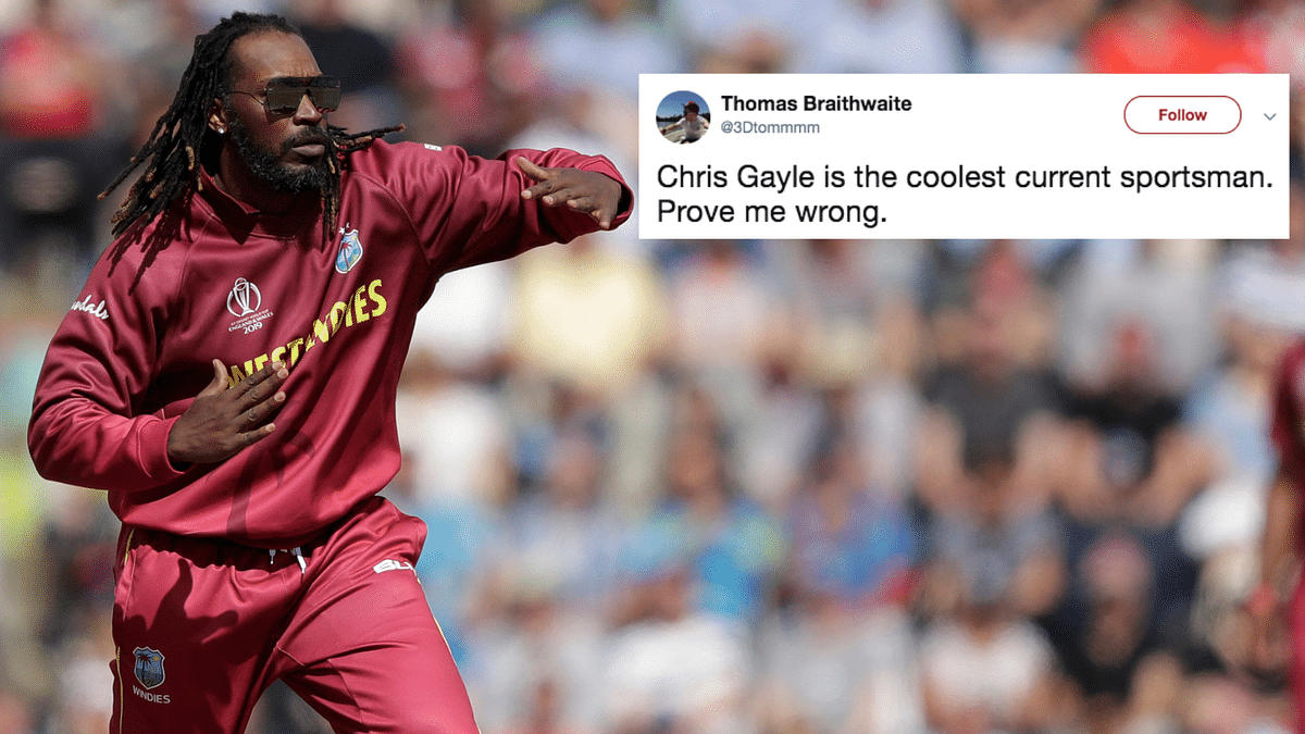 Chris Gayle Bowls Donning Aviators at WC & Twitter Can't Handle It