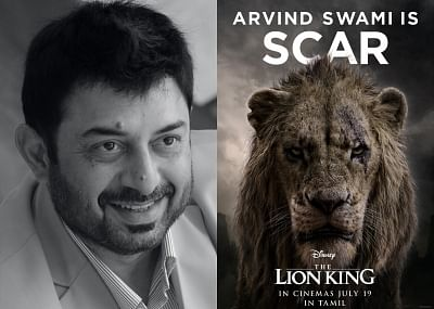"""Actor Arvind Swami is back into the world of """"The Lion King"""", but this time as villainous Scar. Disney India has roped in Arvind to voice the character of Scar in the Tamil version of the live-action film """"The Lion King""""."""