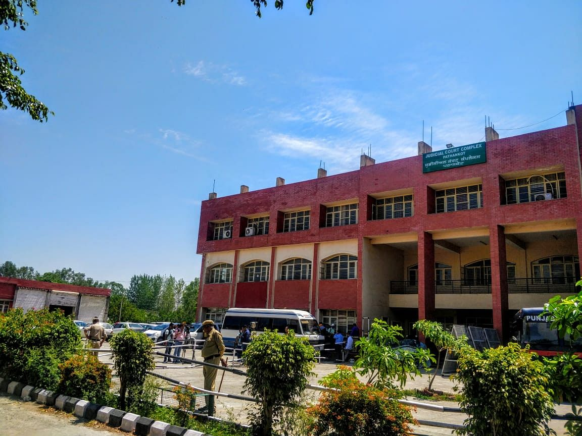 Punjab's Pathankot district court premises where the verdict of the Kathua rape and murder case was announced on 10 June.