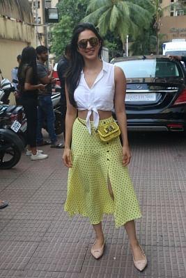 "Mumbai: Actress Kiara Advani at the screening of her upcoming film ""Kabir Singh"", in Mumbai, on June 23, 2019. (Photo: IANS)"
