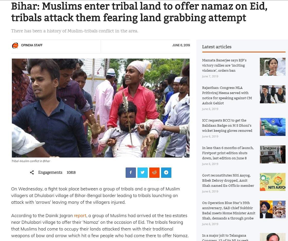 Did Adivasis in Bihar Attack Muslims Fearing Land Encroachment?