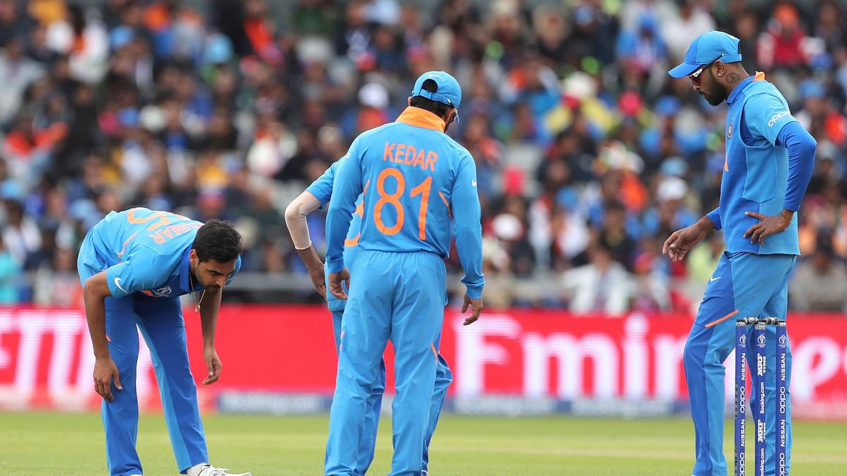 Bhuvneshwar Kumar injured his left hamstring and has been ruled out of the match against Pakistan.