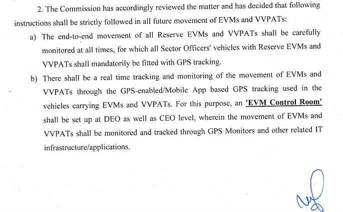 ECI letter (no. 51/8/INST/2019) to CEOs of all states on 5 February, 2019