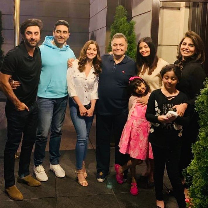 The Kapoor and Bachchan Families Get Together in New York