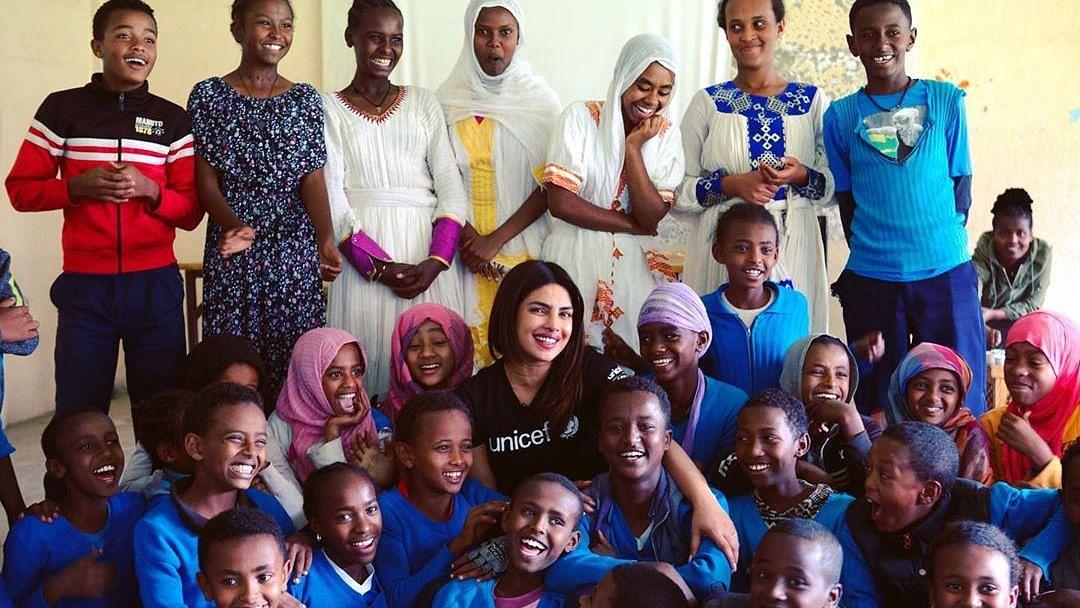 Priyanka Chopra during her UNICEF visit to Sudan earlier this year.