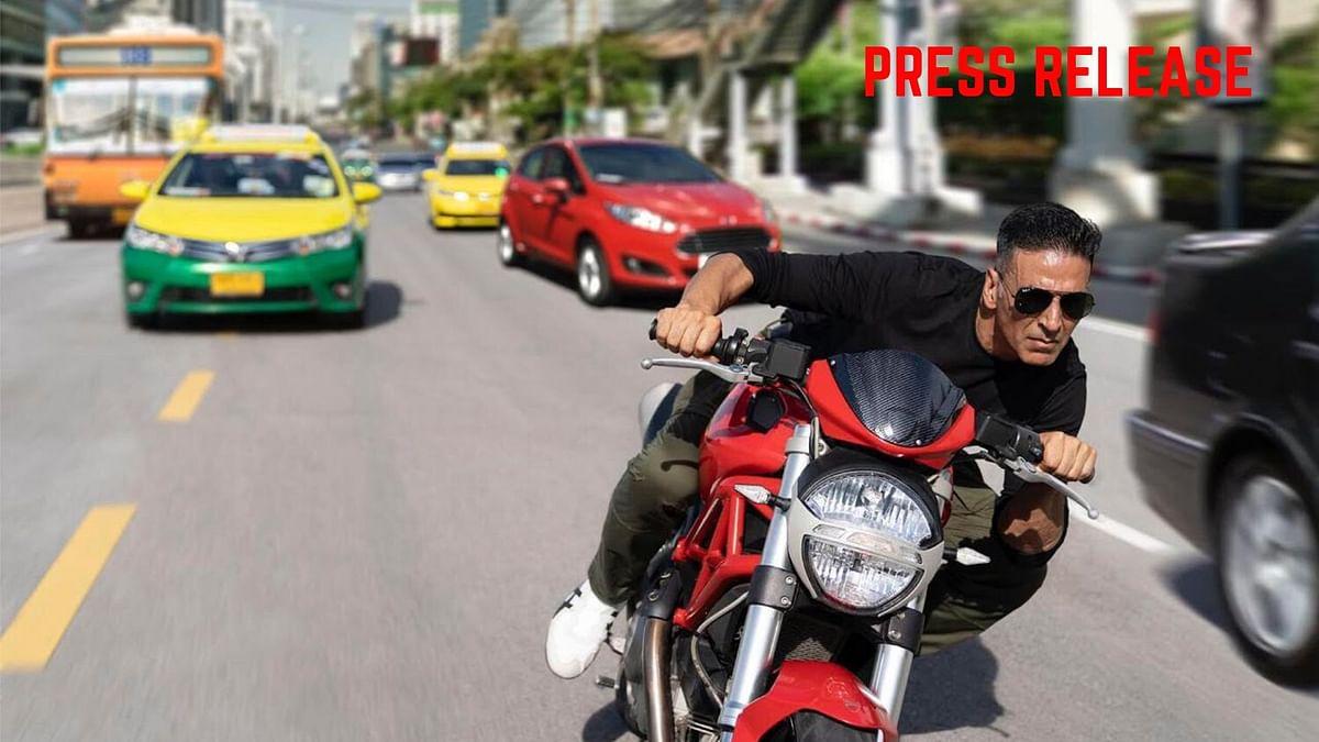 Press Release: Akshay Kumar Shoots Bike Stunts  For Sooryavanshi