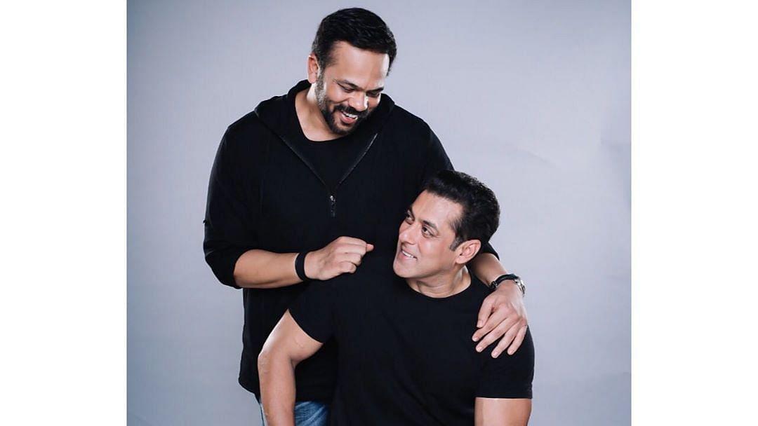 Rohit Shetty with Salman Khan