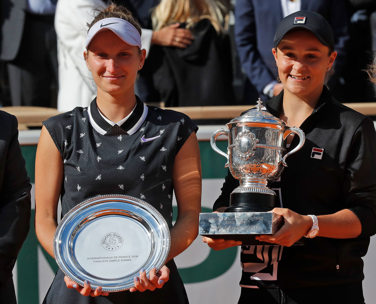 Neither Barty, 23, nor Vondrousova had ever played in a Grand Slam final before.
