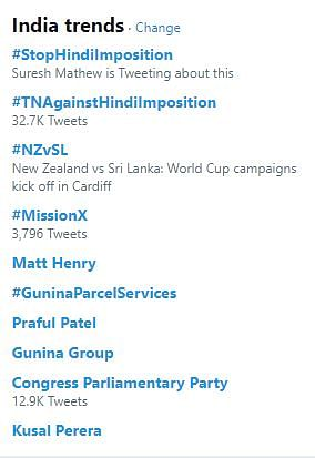 The trend was top on Twitter on Saturday.