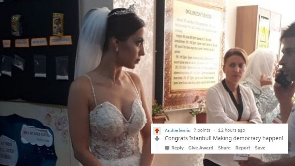 This Bride In Istanbul Cast Her Vote Before Attending Her Wedding