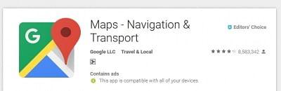 Google maps logo (File Photo: IANS)